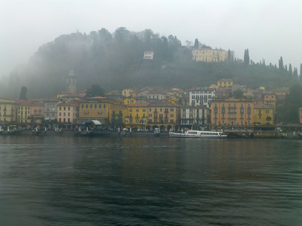 Bellagio, Lake Como in the rain