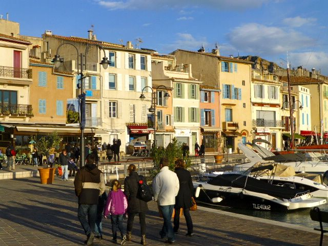 Cassis, a French fishing town on the Mediterranean