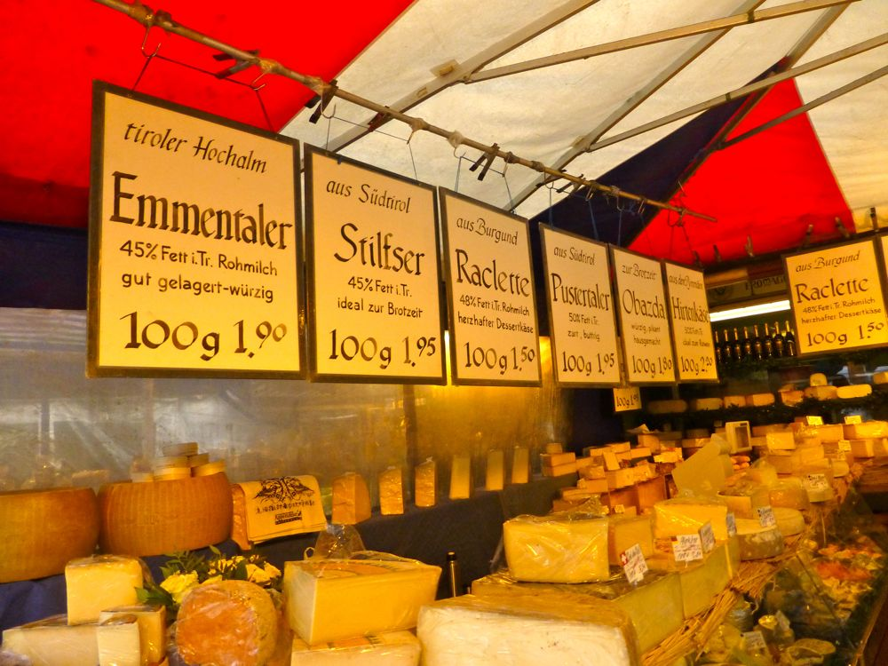 Cheese sellers at Viktualienmarkt, Munich