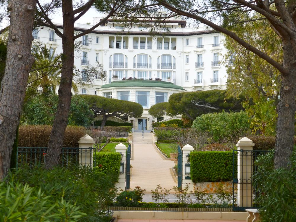From garden at Grand Hotel Du Cap Ferrat
