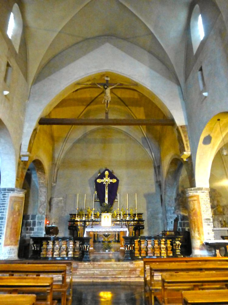Inside the church in Varenna, Lake Como, Italy