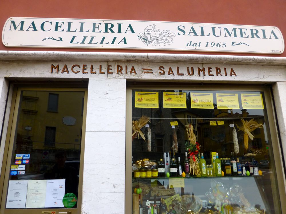 Salumeria in Varenna, Lake Como, Italy