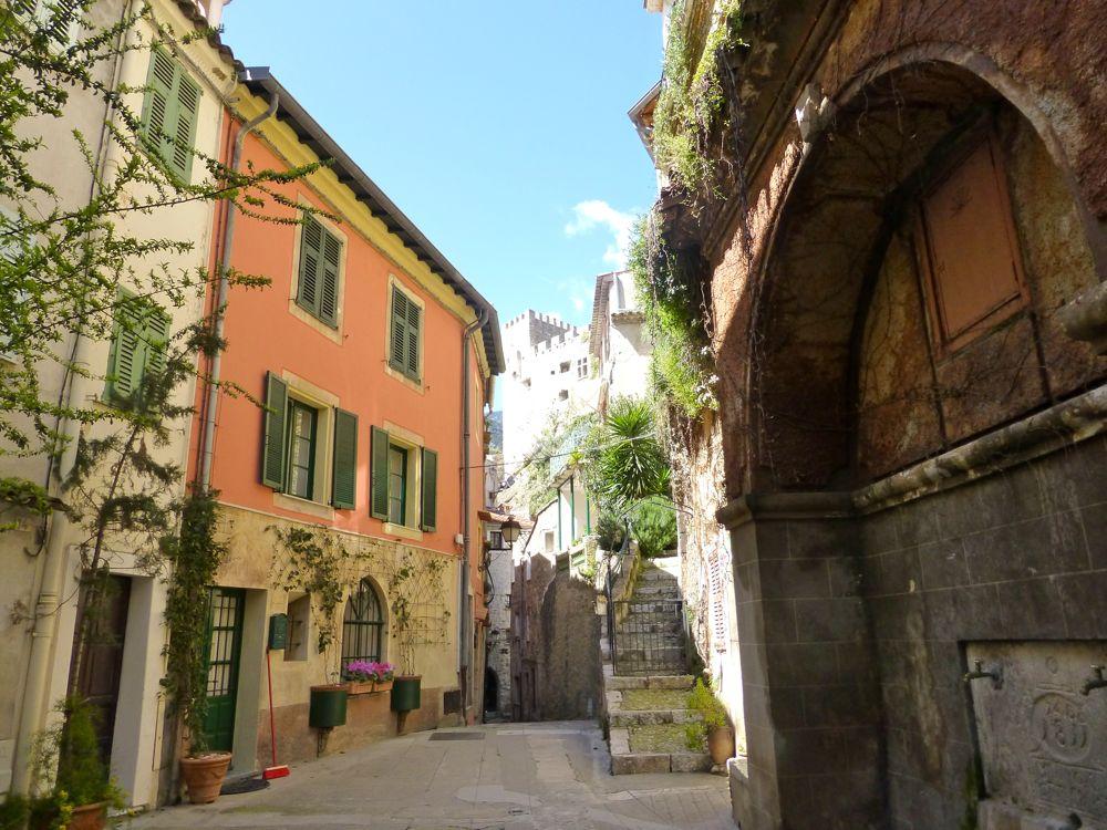 Streets in Roquebrune-Cap-Martin, Cote d'Azur, France