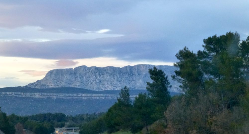Towards Mt St Victoire Aix en Provence, at dusk
