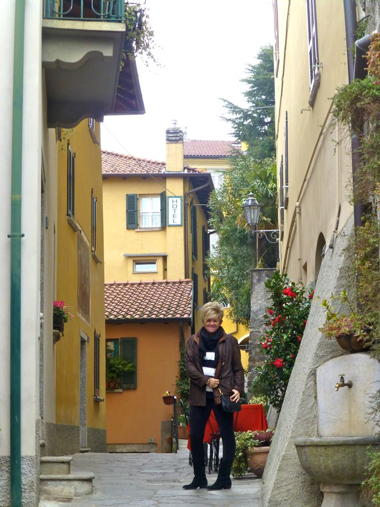 Walking to our Varenna hotel, Lake Como