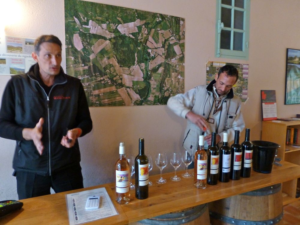 Wine tasting at Chateau Fontvert, Lourmarin, Luberon, Provence, France