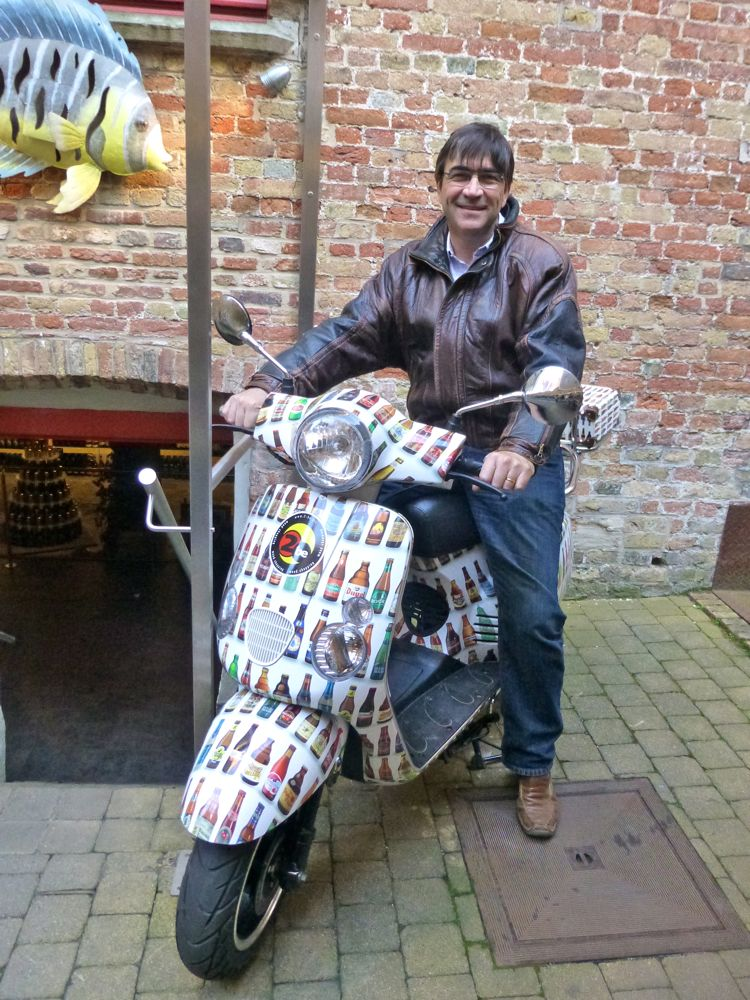 Belgian beer bike, Bruges, Belgium