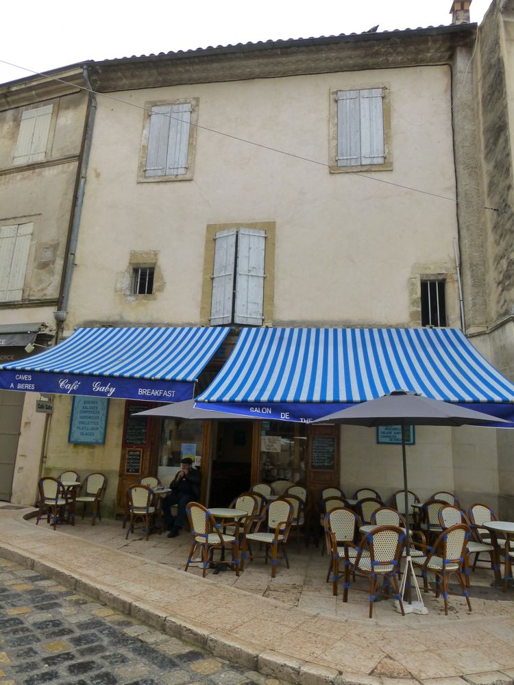 Cafe Gaby in Lourmarin, Vaucluse, Luberon Valley, Provence, France