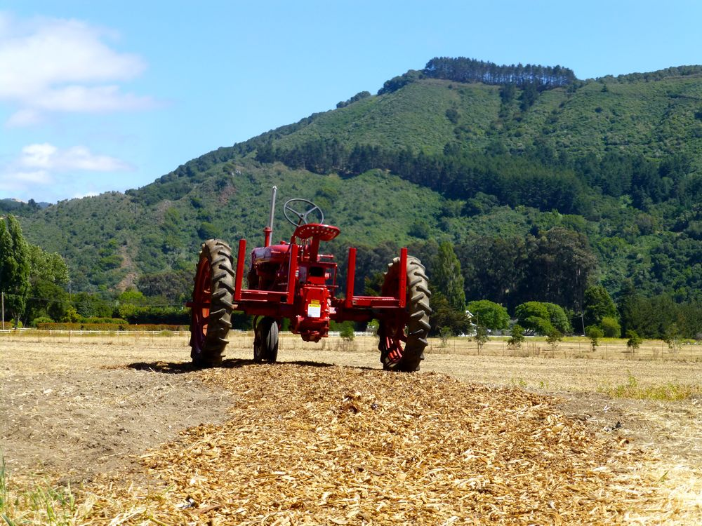 Carmel Valley, California, the tractor by Earth Bound Farms