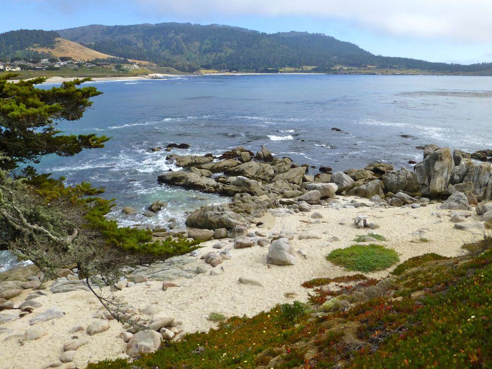 Carmel, across River Beach, towards Carmel Highlands