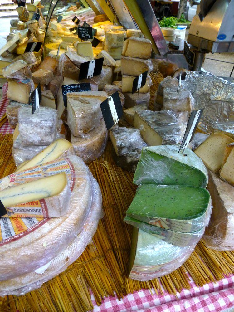 Cheese at Lourmarin's market Luberon, Provence, France