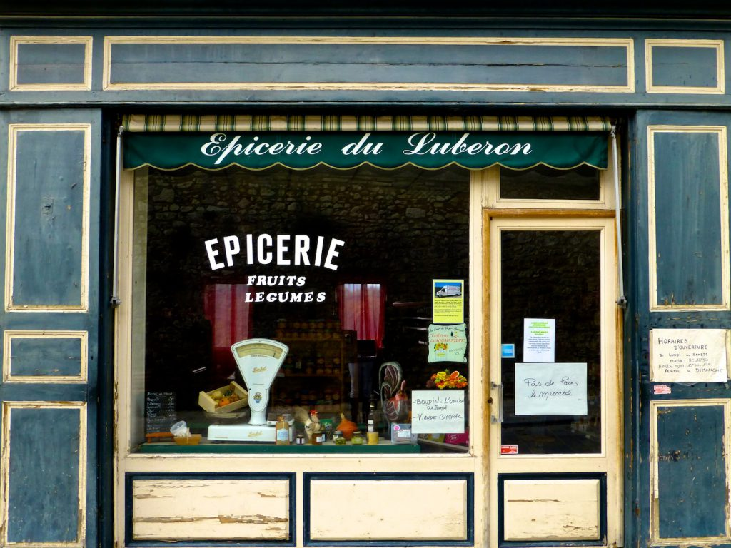 Epicerie in Menerbes, one of the most 'beautiful villages of France', Luberon, Provence