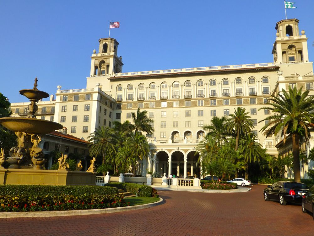 Outside The Breakers Hotel, West Palm Beach, Florida, USA