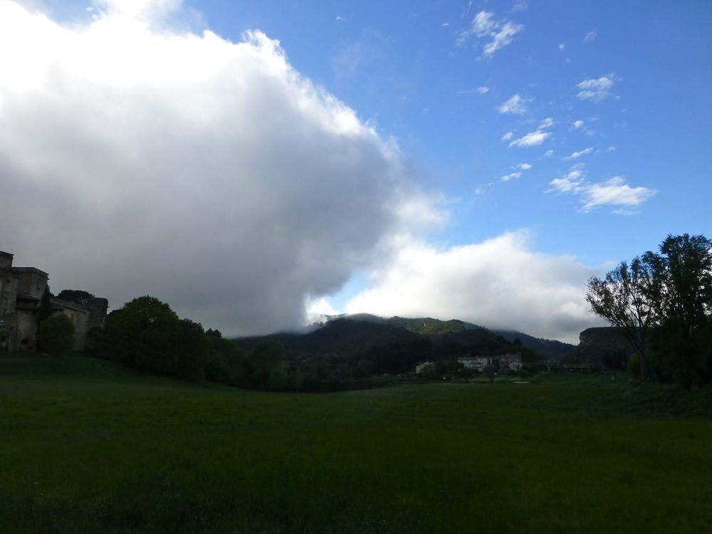 Storm building over Lourmarin