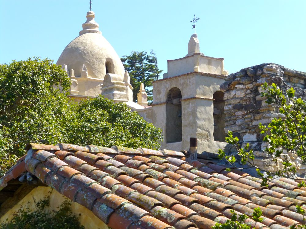 The clay tile roof by Carmel Mission, Carmel, California