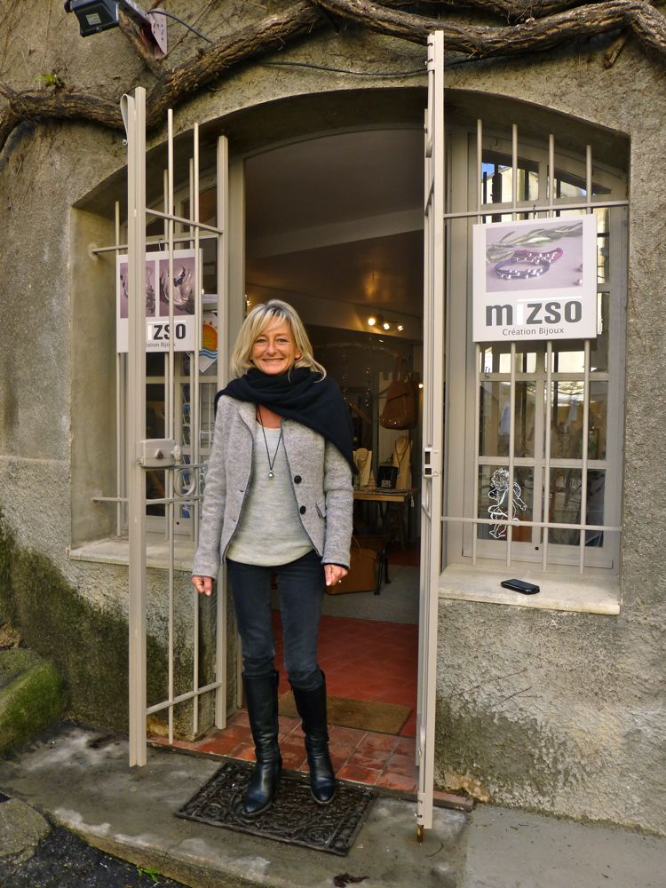 Mizso, jewelry shop in Lourmarin, Vaucluse, Luberon Valley, Provence, France