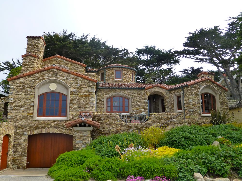 Carmel 'cottage' in 2013 on Scenic Drive, Carmel, California, USA