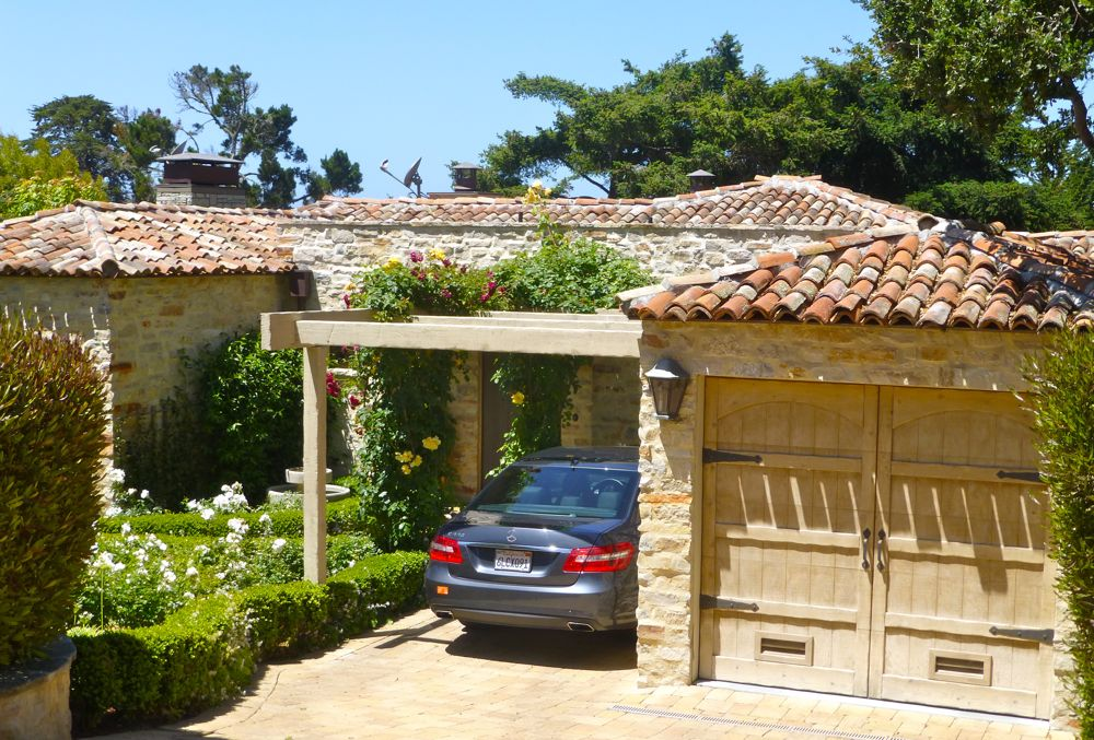 Old style Mediterranean property in Carmel, California, USA