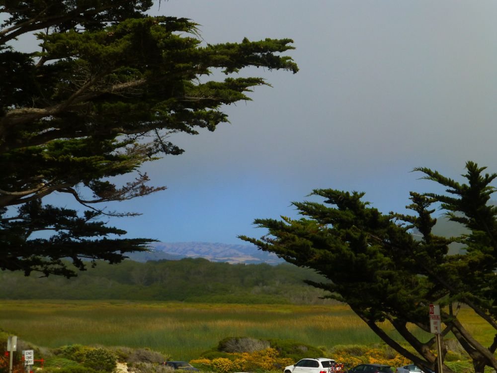 The Fog break, looking back to Carmel Valley, Carmel, California