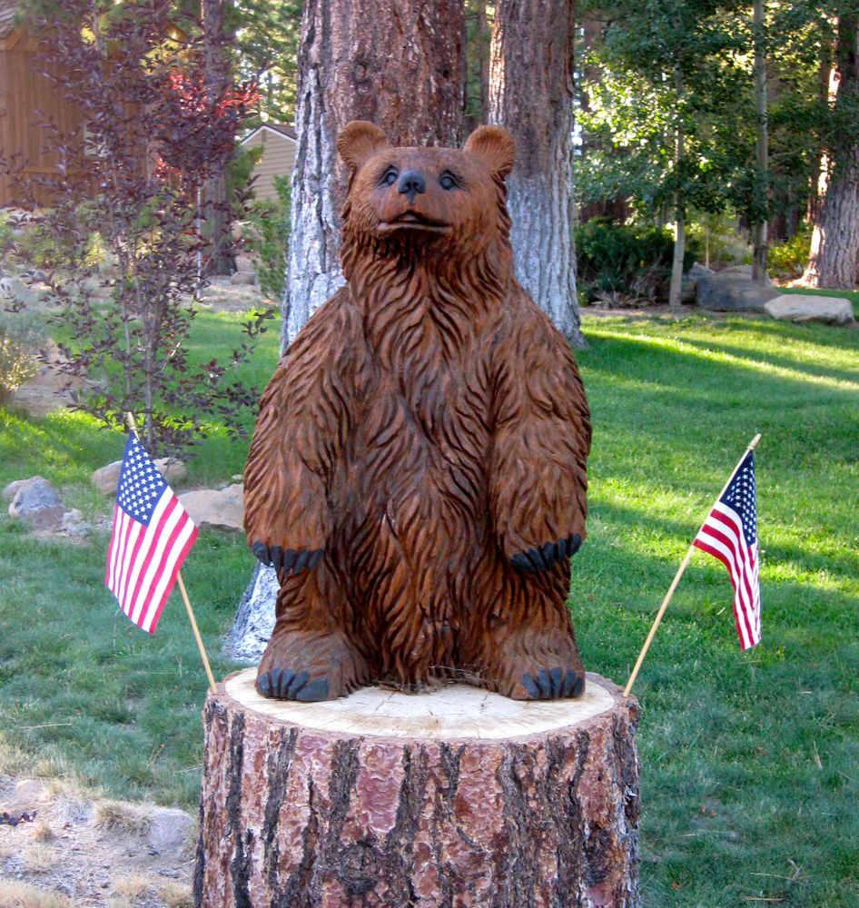 4th July Californian brown bear, the symbol of California