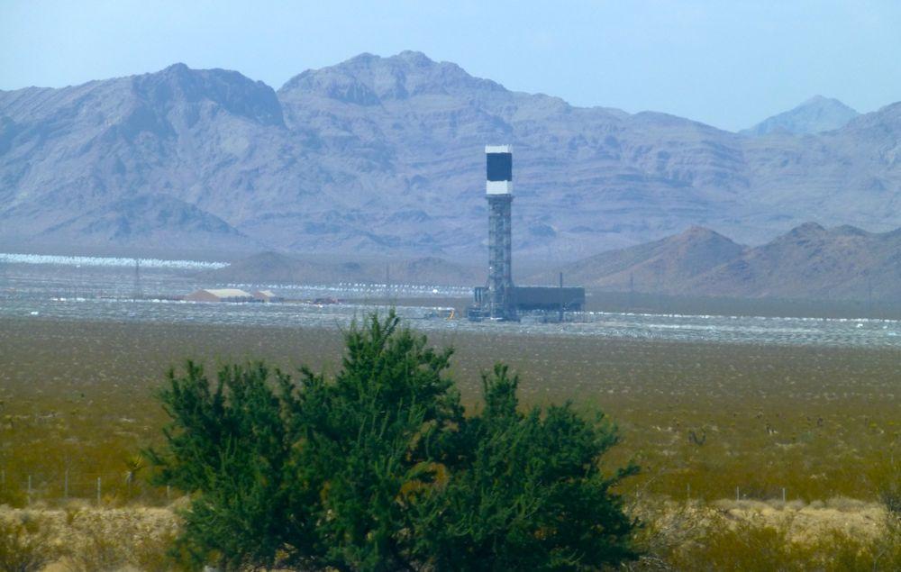 A solar plant outside Las Vegas