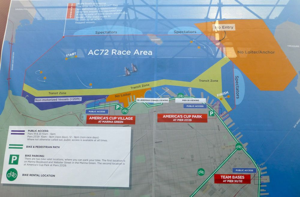 America's Cup 2013 San Francisco - Route Map