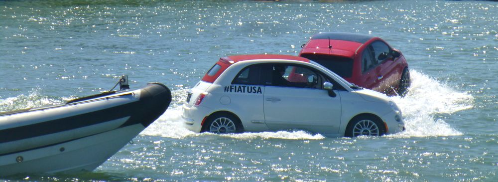 Italian Fiats victory lap for Luna Rossa @ America's Cup San Franciso 2013