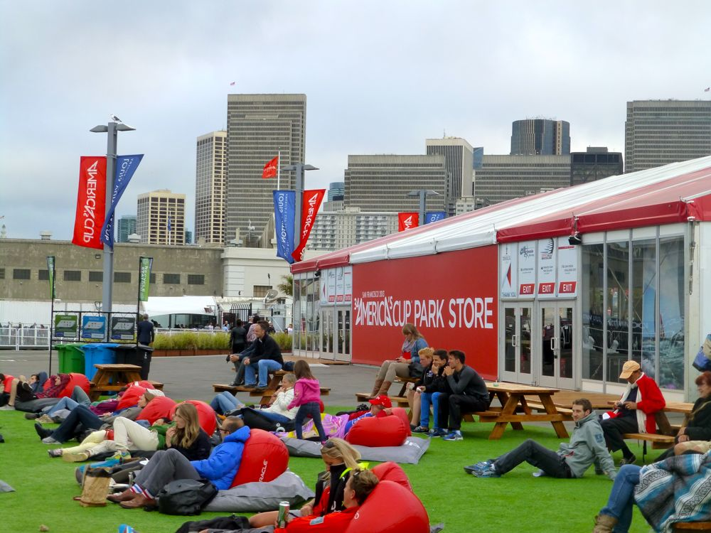 Relaxing at America's Cup 2013