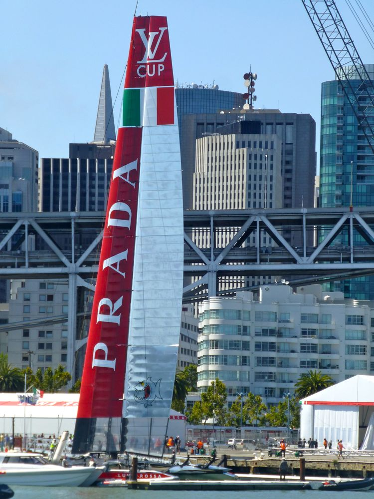 The winner Luna Rossa docked @ America's Cup