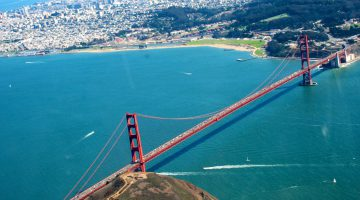Above The Golden Gate Bridge, San Francisco