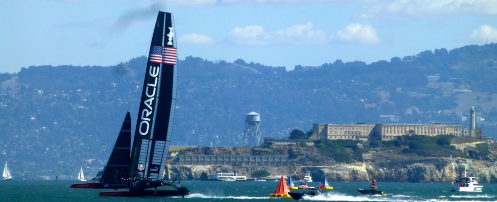 Team USA, Oracle in the final race of the America's Cup
