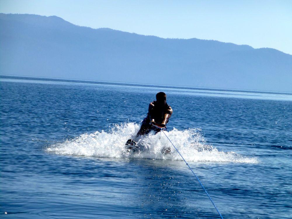 Water skiing at Lake Tahoe