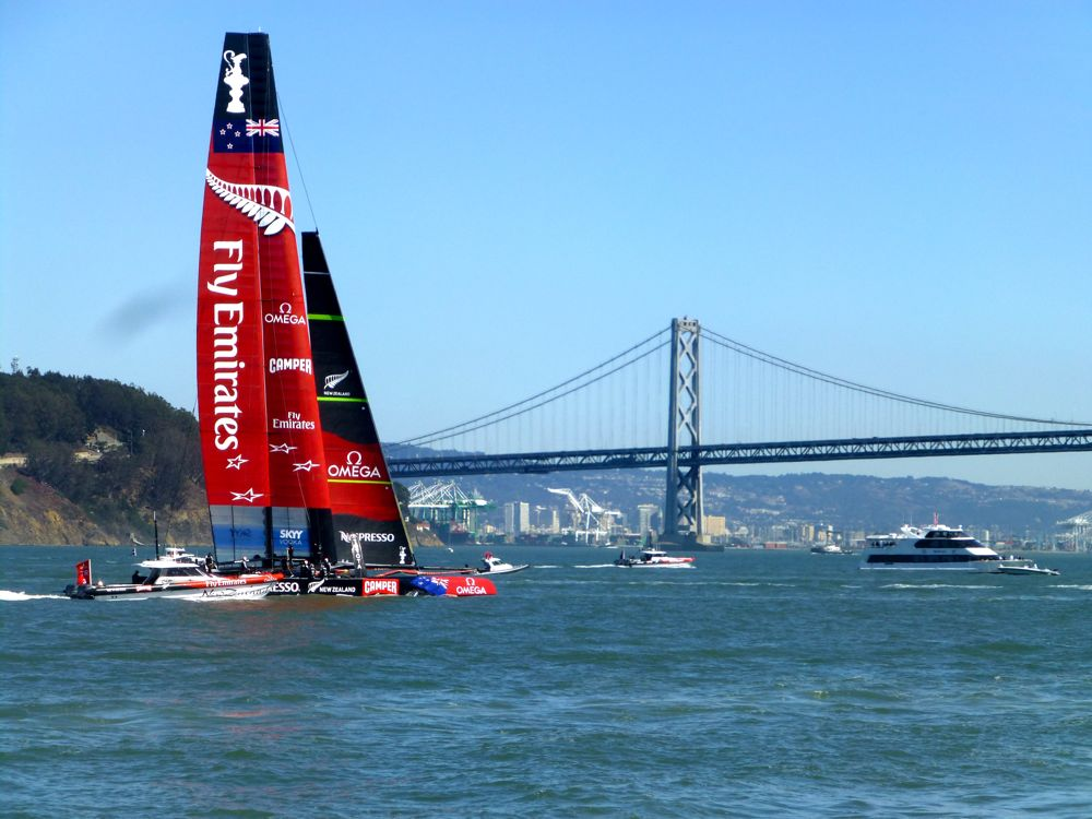 Team NZ at America's Cup, San Francisco