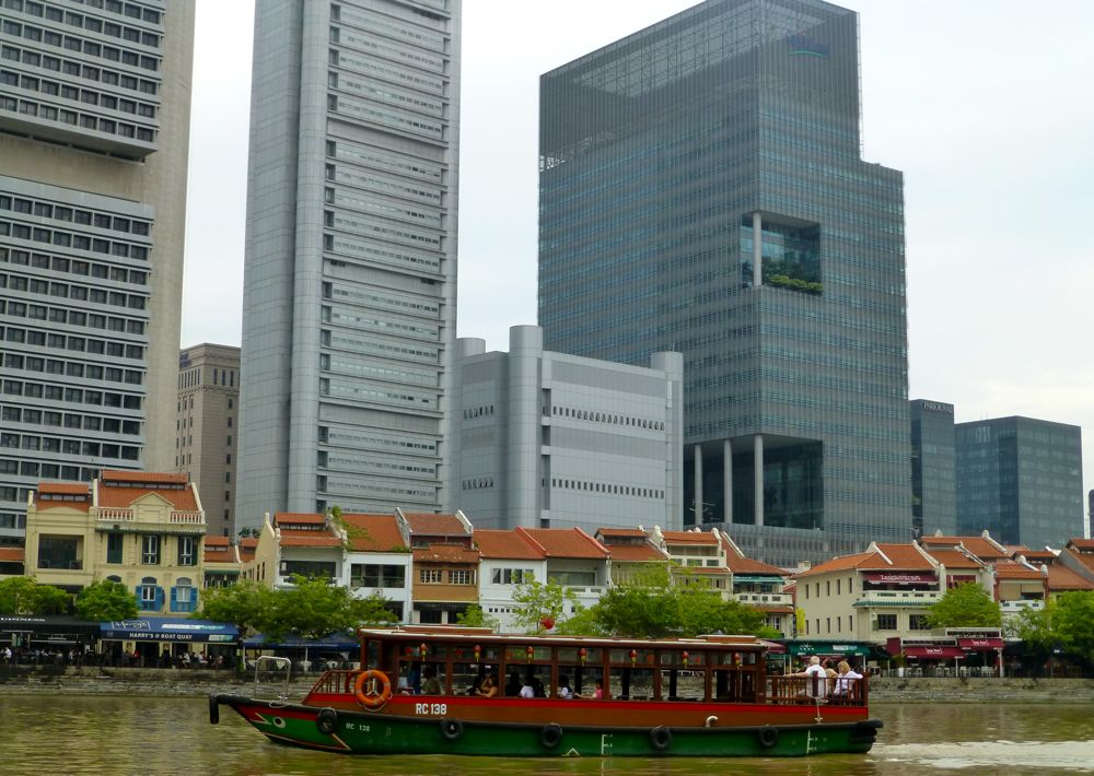 Boat cruise on Singapore River