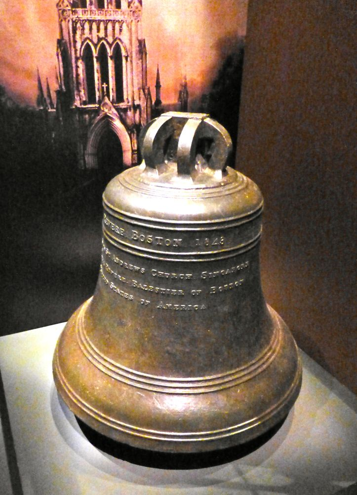 The Boston Bell presented to Singapore by Maria Balestier, by the wife of the first American Consul to Singapore, (also the daugher of American Patriot Paul Revere) from the Revere Foundry, Boston