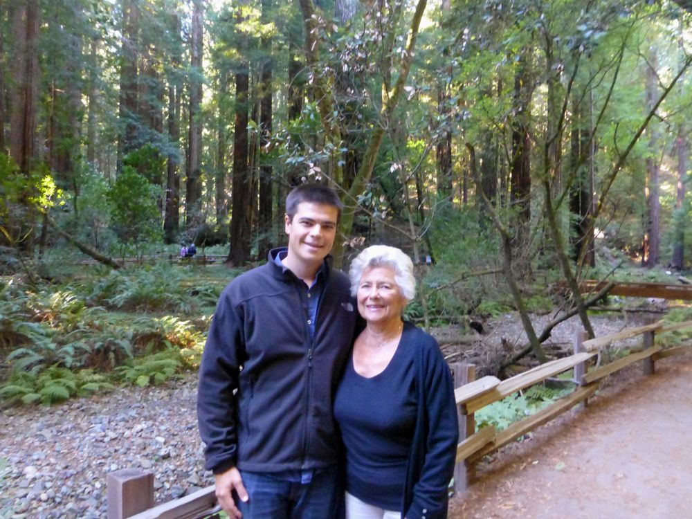 With Grandma in the Muir Woods