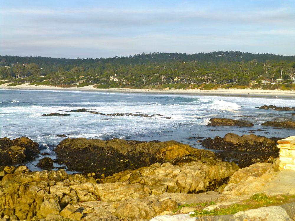 View back to Carmel Beach