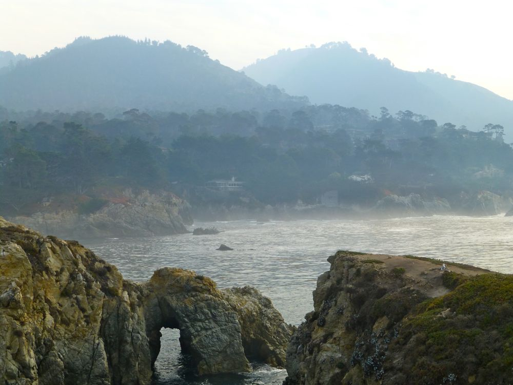 View of Highlands Inn at Bird Island Point Lobos Carmel. California, USA