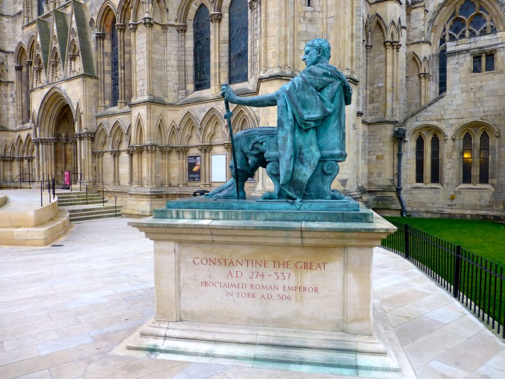 Constantine the Great, crowned Roman Emperor in York, England, 306 AD