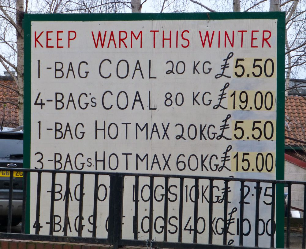 How the Brits keep warm, Malton, North Yokshire