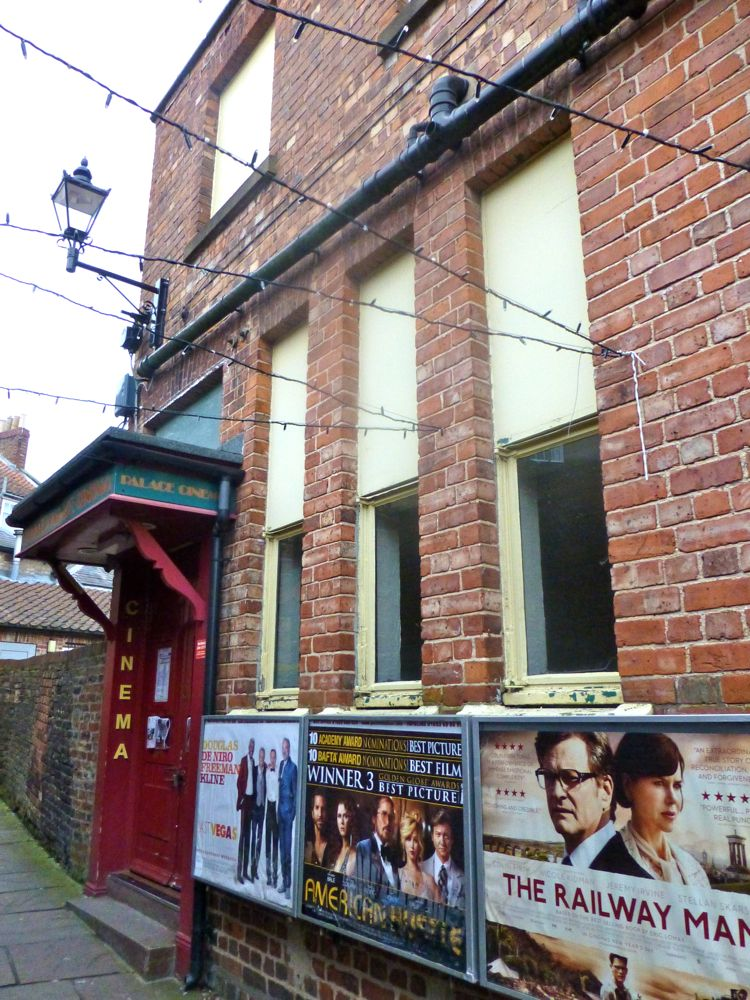 Outside Malton's Cinema, entrance way