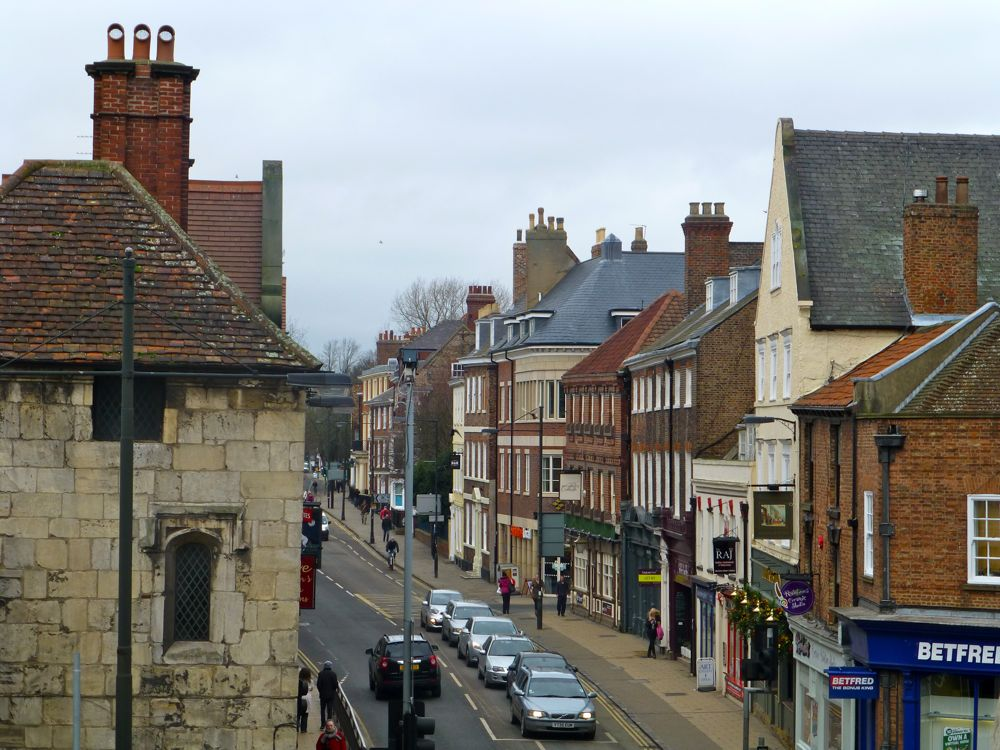 Streets of York from the city walls