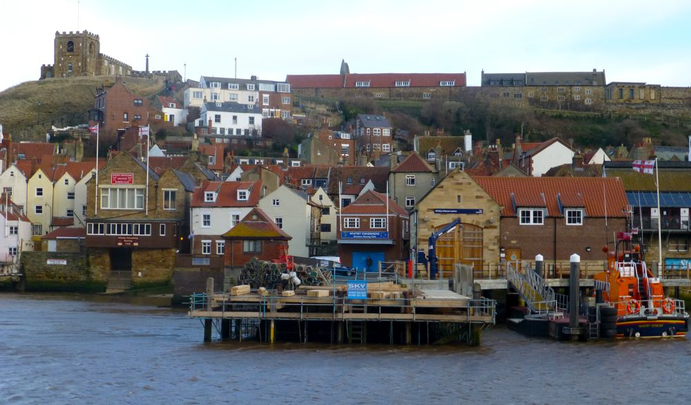 The Whitby harbour