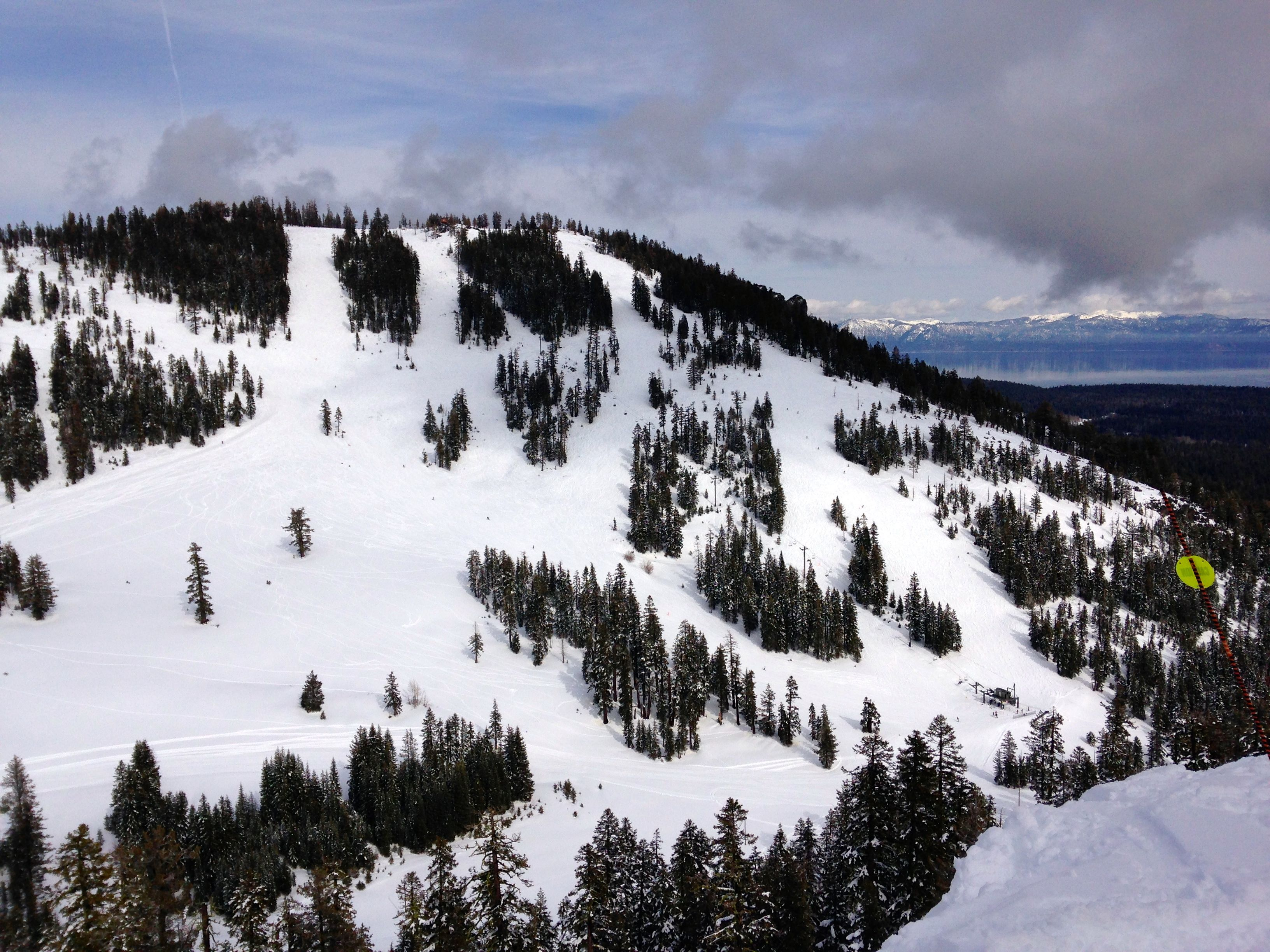 Alpine Meadows, view of Lake Tahoe CA