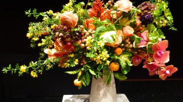 Bouquets of Art, David Stark floral arrangement, De Young Museum, San Francisco
