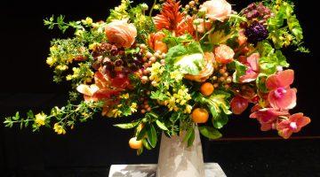 Bouquets of Art, David Stark floral arrangement, De Young Museum, San Francisco