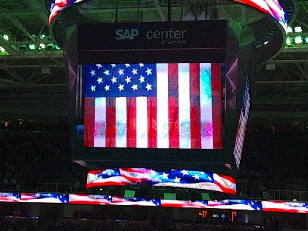 San Jose Sharks and their national flag!