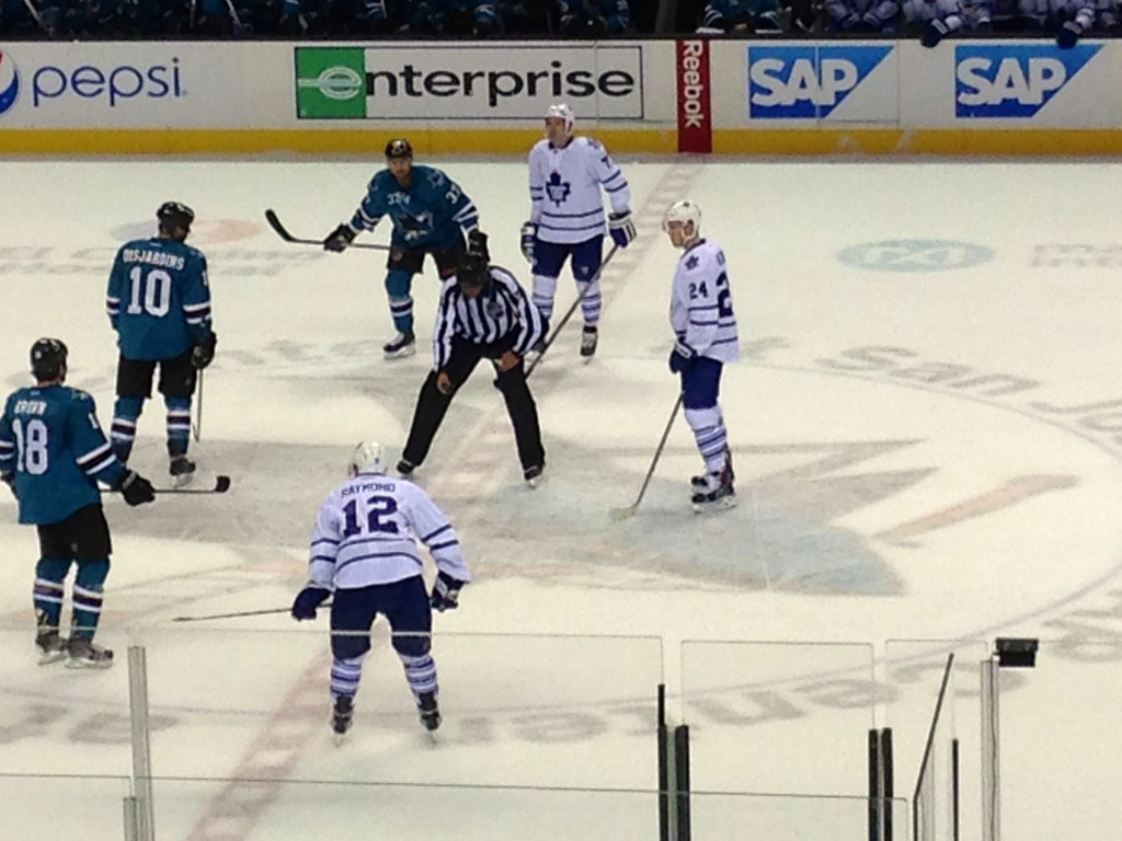 San Jose Sharks Playing the Toronto Maple Leafs