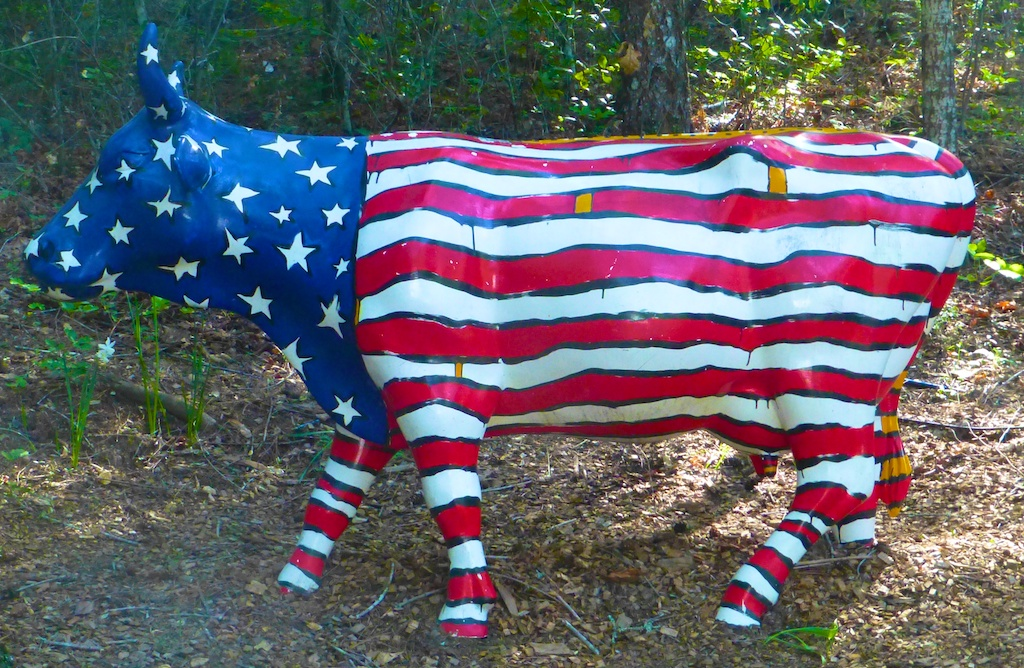 Americana cow at Rombauer, winery, Napa Valley, California