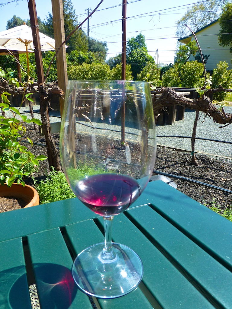 Wine tasting at Elizabeth Spencer, Rutherford, Napa Valley, California